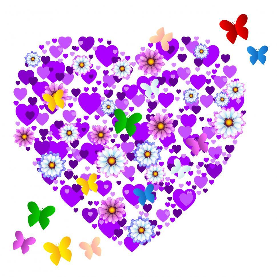 Download Free Stock HD Photo of Butterflies Nature Represents Valentines Day And Bloom Online