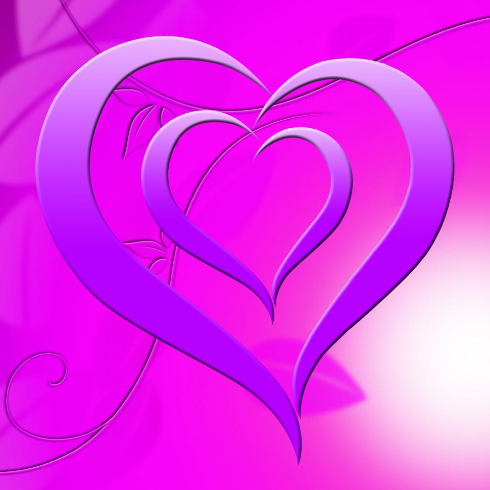 Download Free Stock HD Photo of Background Heart Means Valentine Day And Abstract Online