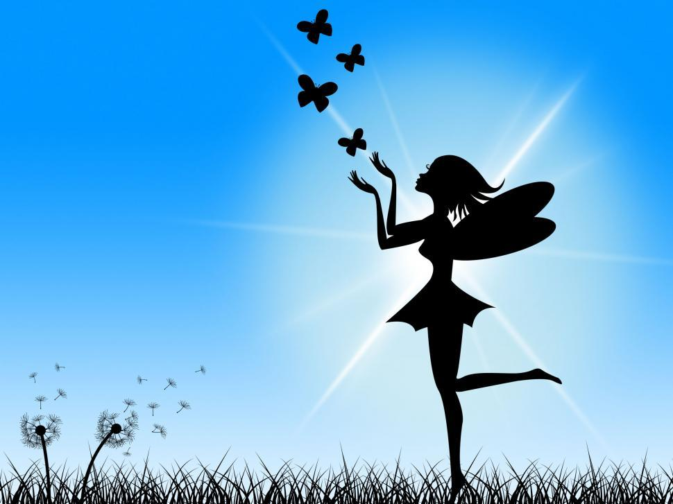 Download Free Stock HD Photo of Butterflies Blue Means Fairy Tale And Sun Online