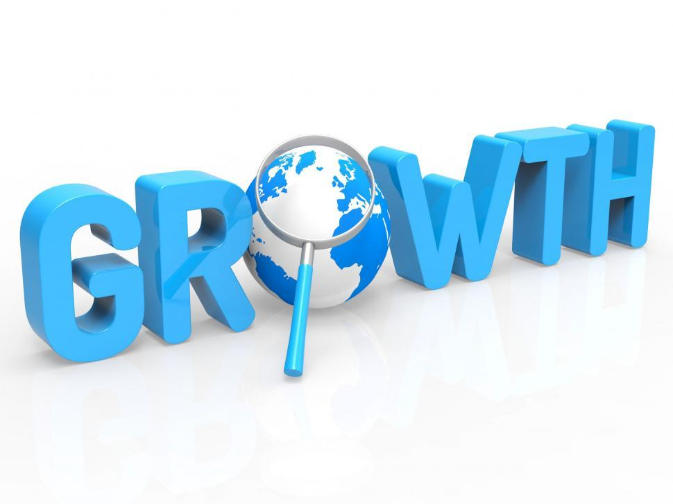 Download Free Stock HD Photo of Financial Growth Represents Develop Expansion And Increase Online