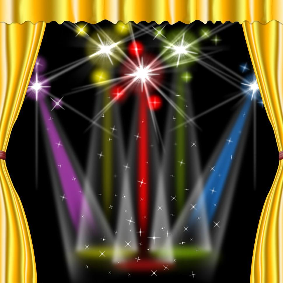 Download Free Stock HD Photo of Spotlight Color Shows Stage Lights And Beam Online