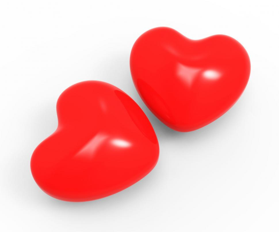 Download Free Stock HD Photo of Hearts Love Represents Valentine Day And Compassionate Online