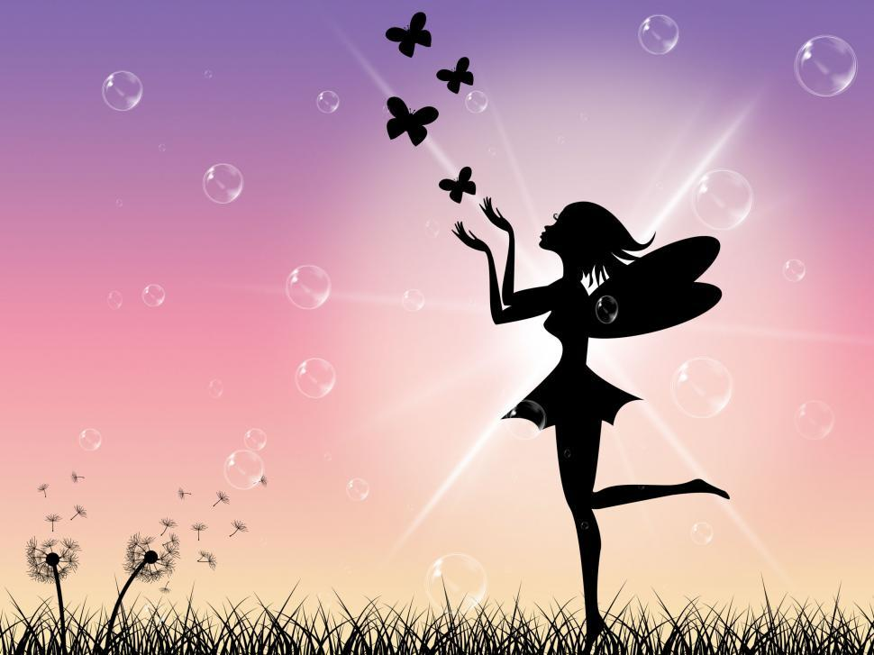 Download Free Stock HD Photo of Sun Butterflies Indicates Fairy Tale And Magical Online