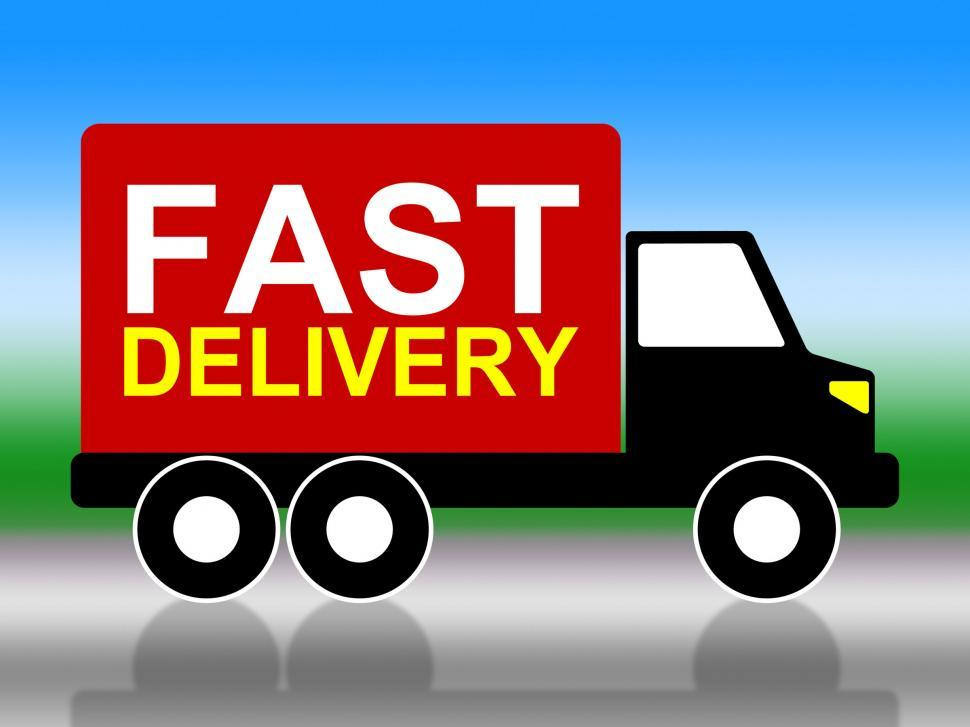 Download Free Stock HD Photo of Fast Delivery Shows High Speed And Transporting Online