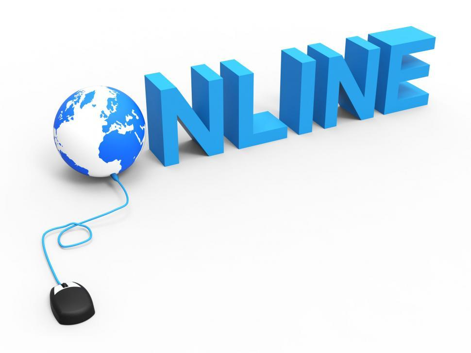 Download Free Stock HD Photo of Global Online Means World Wide Web And Net Online