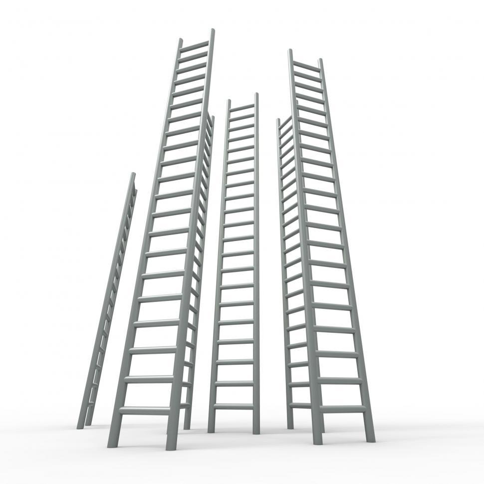 Download Free Stock HD Photo of Ladder Ladders Indicates Vision Raise And Growing Online