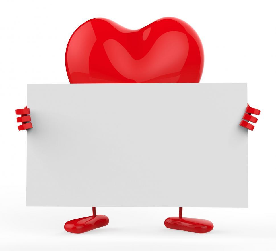 Download Free Stock HD Photo of Message Heart Shows Text Space And Communicate Online