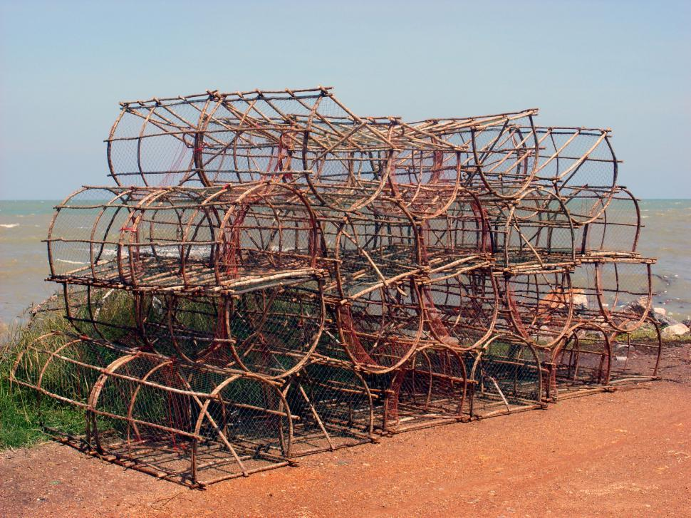 Download Free Stock HD Photo of Crustacean fishing traps Online