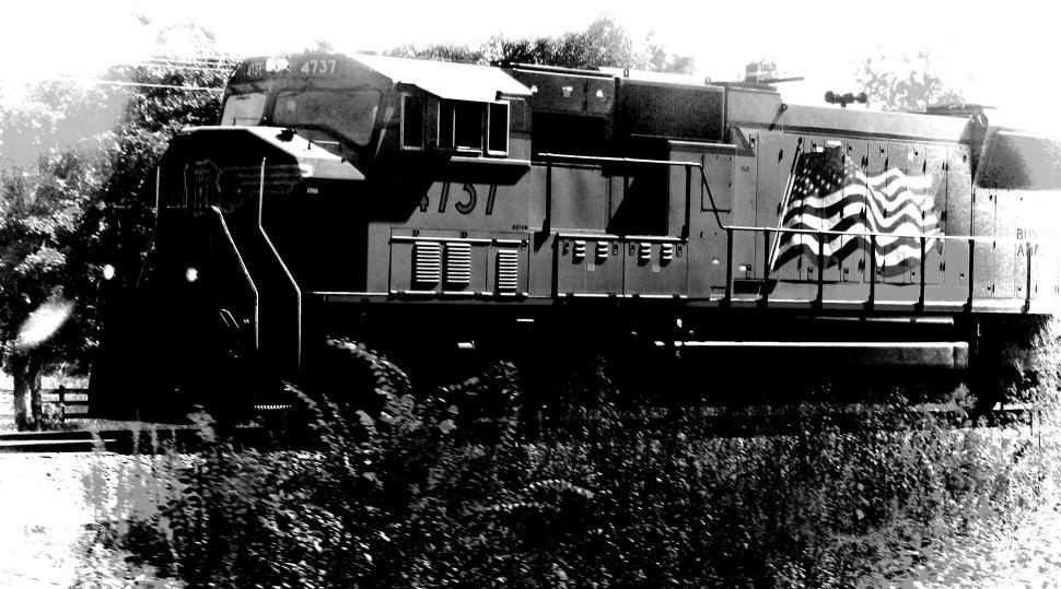 Download Free Stock HD Photo of Train - Black and White Online