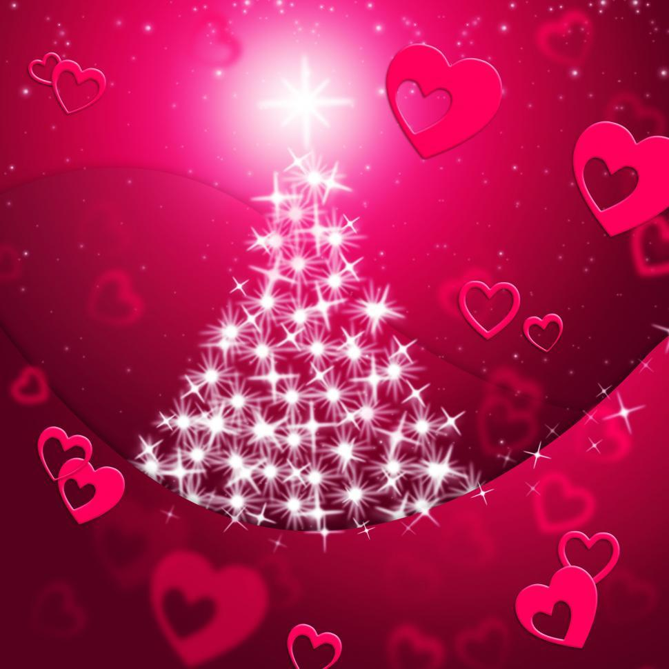 Download Free Stock HD Photo of Xmas Tree Shows Valentine s Day And Festive Online