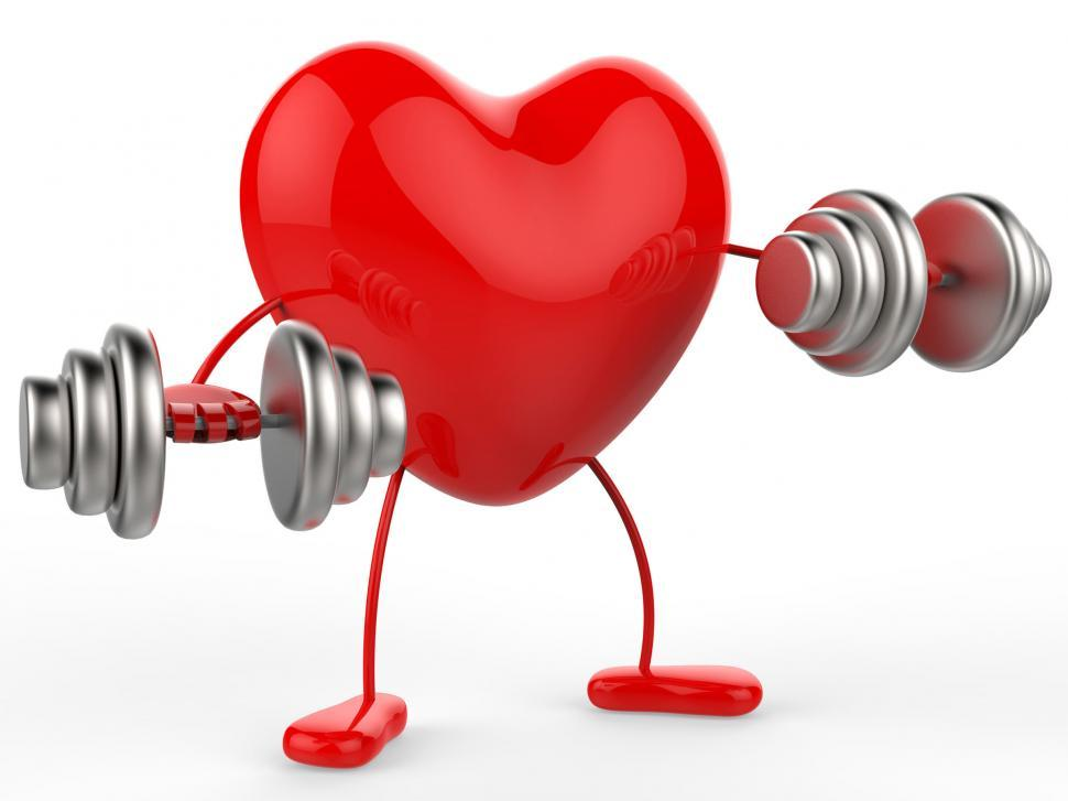 Download Free Stock HD Photo of Weights Heart Shows Get Fit And Aerobic Online