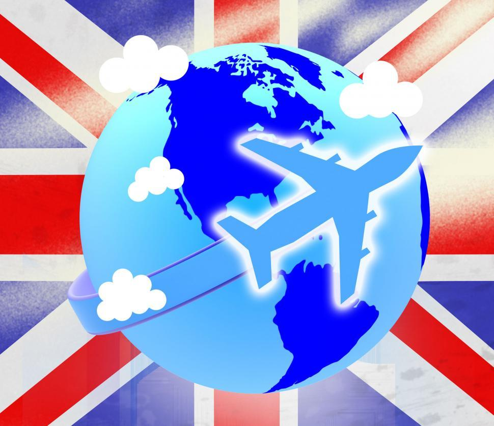 Download Free Stock HD Photo of Union Jack Represents English Flag And Airline Online