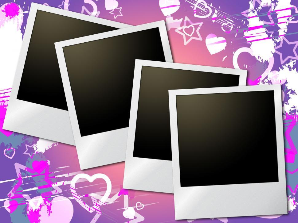 Download Free Stock HD Photo of Photo Frames Means Valentine Day And Heart Online