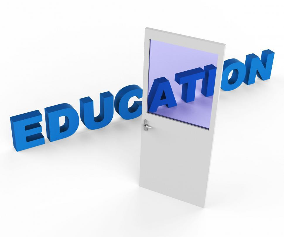 Download Free Stock HD Photo of Door Education Shows Develop Educated And College Online