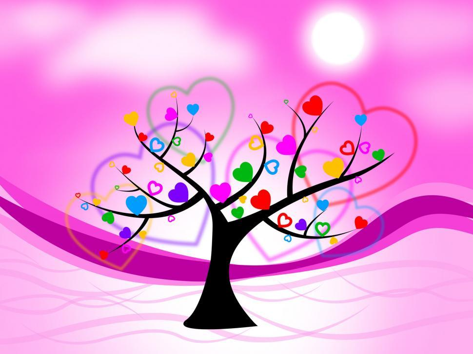 Download Free Stock HD Photo of Tree Heart Means Valentine s Day And Hearts Online
