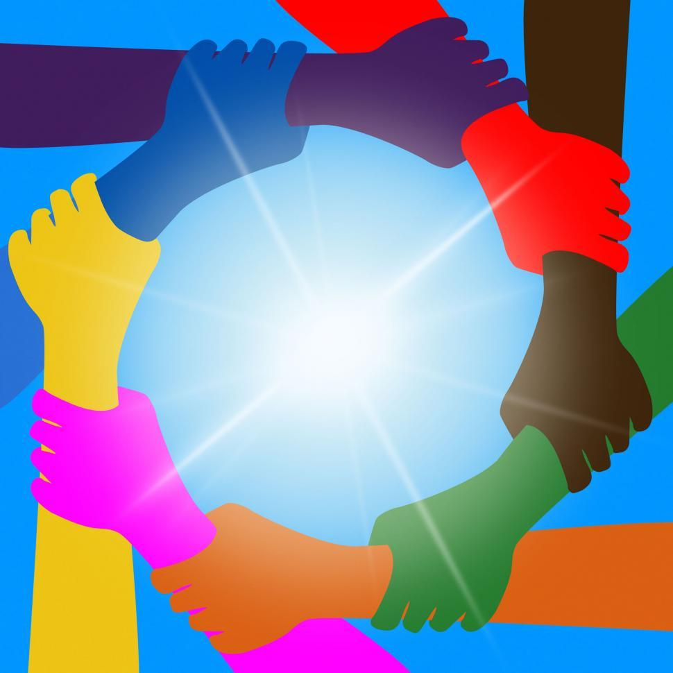 Download Free Stock HD Photo of Holding Hands Indicates Unity Friends And Togetherness Online