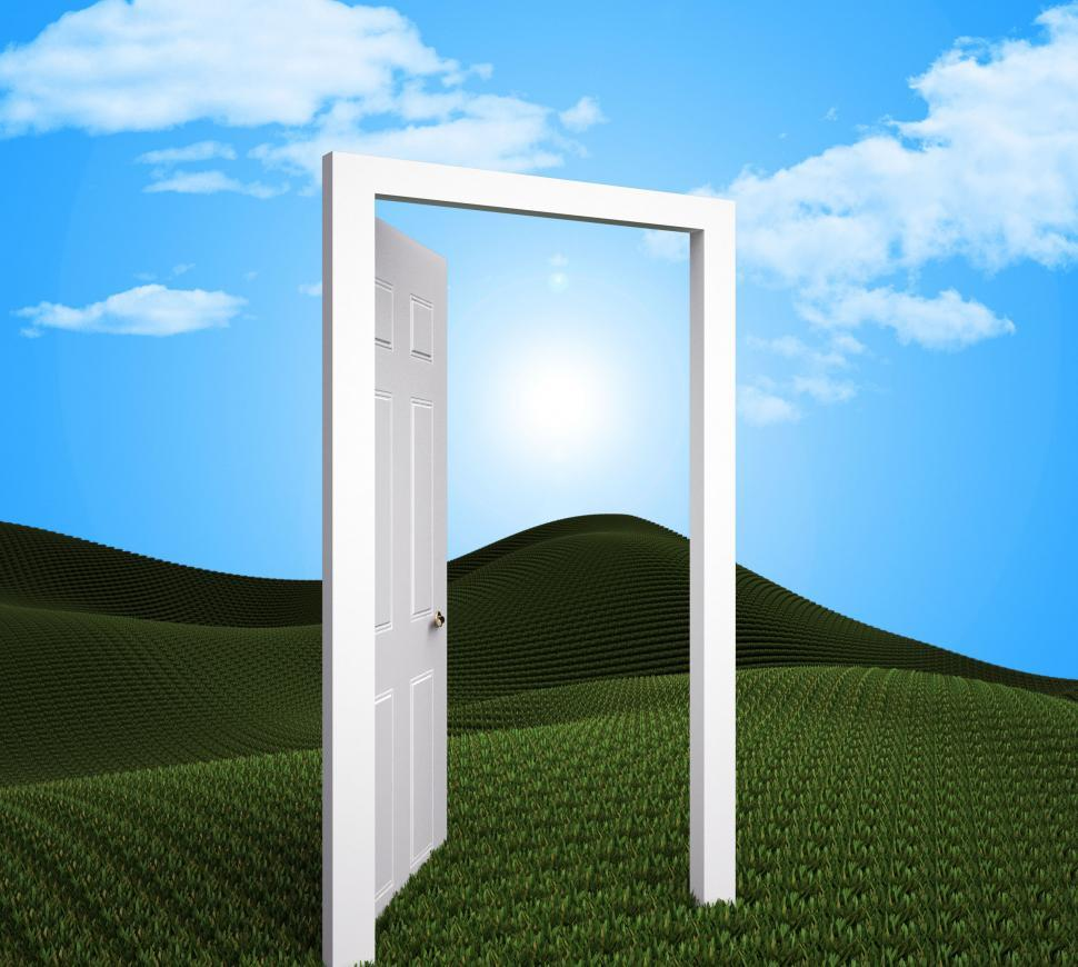 Download Free Stock HD Photo of Doorway Planning Indicates Target Goals And Aspire Online
