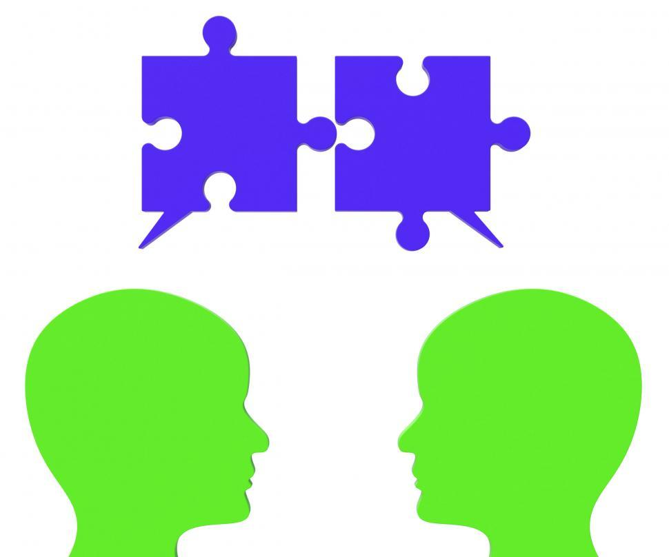 Download Free Stock HD Photo of Speech Bubble Means Jigsaw Puzzle And Assemble Online