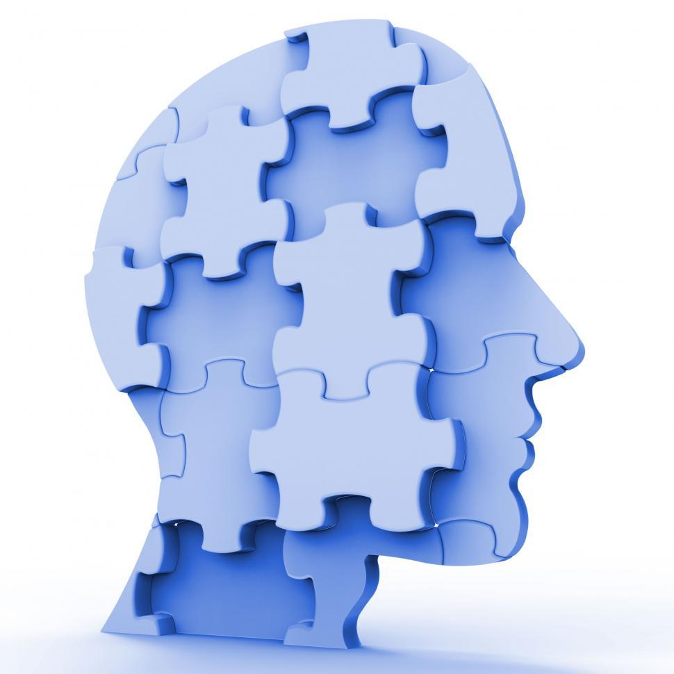Download Free Stock HD Photo of Jigsaw Head Represents Plans Person And Piece Online