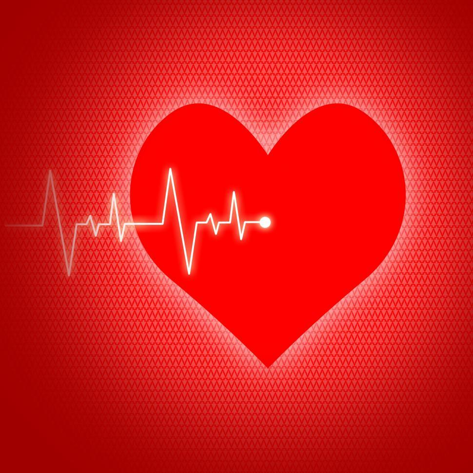 Download Free Stock HD Photo of Heart Pulse Indicates Preventive Medicine And Cardiogram Online