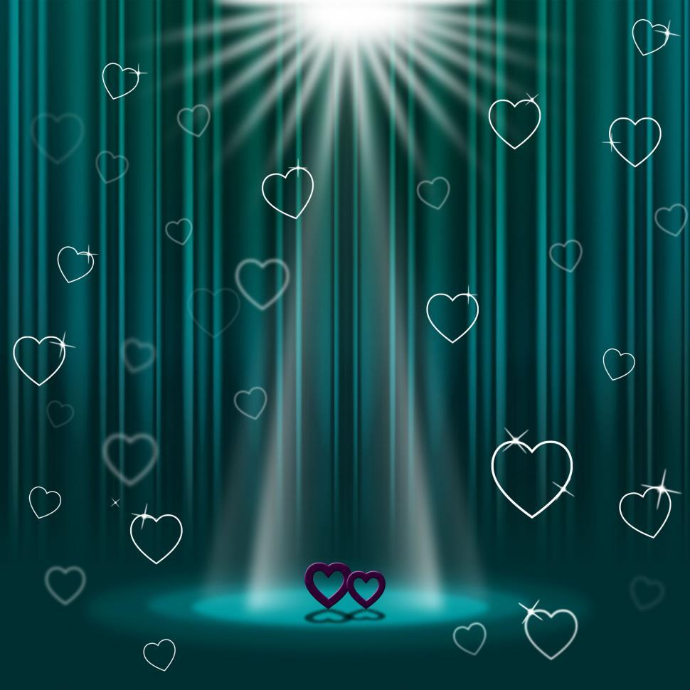 Download Free Stock HD Photo of Spotlight Green Shows Valentine s Day And Entertainment Online