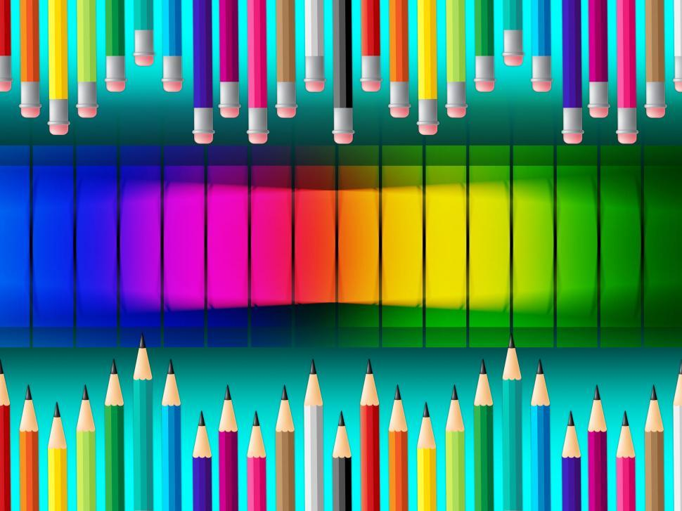 Download Free Stock HD Photo of Color Pencils Indicates Colorful Schooling And Tutoring Online