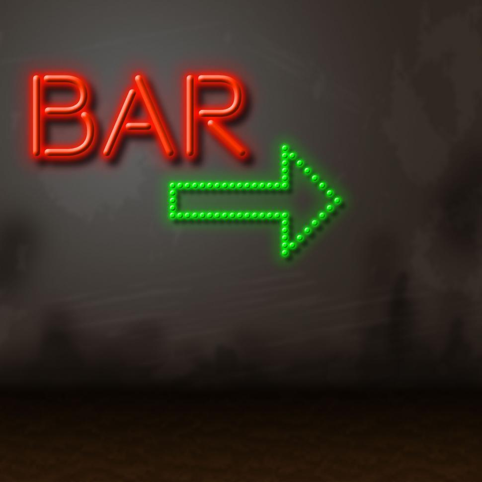 Download Free Stock HD Photo of Neon Bar Indicates Tavern Bright And Glow Online