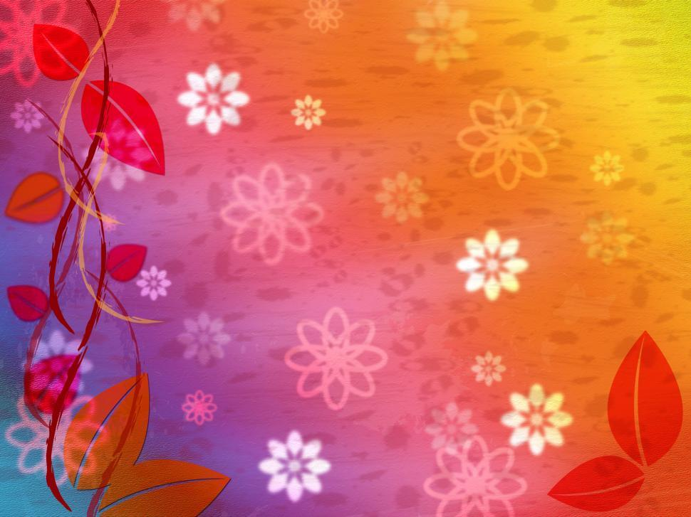 Download Free Stock HD Photo of Floral Background Represents Multicolored Color And Colourful Online