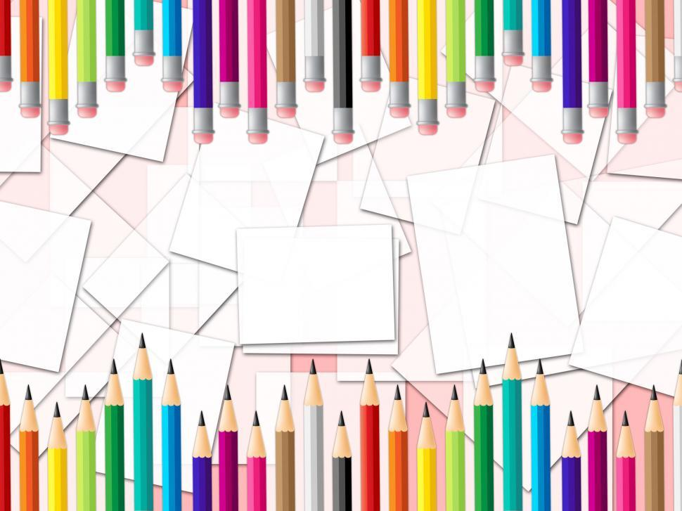 Download Free Stock HD Photo of Pencils Education Shows Colourful Learn And Colour Online