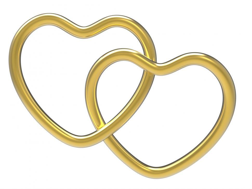 Download Free Stock HD Photo of Wedding Rings Indicates Valentine Day And Eternity Online