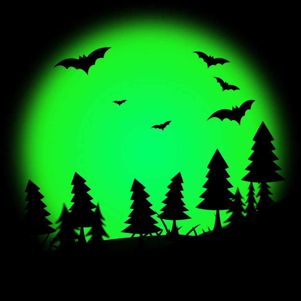 Download Free Stock HD Photo of Halloween Tree Represents Trick Or Treat And Autumn Online
