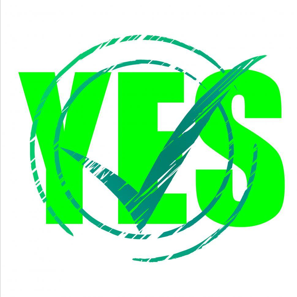 Download Free Stock HD Photo of Yes Tick Shows Check Checkmark And Agreeing Online