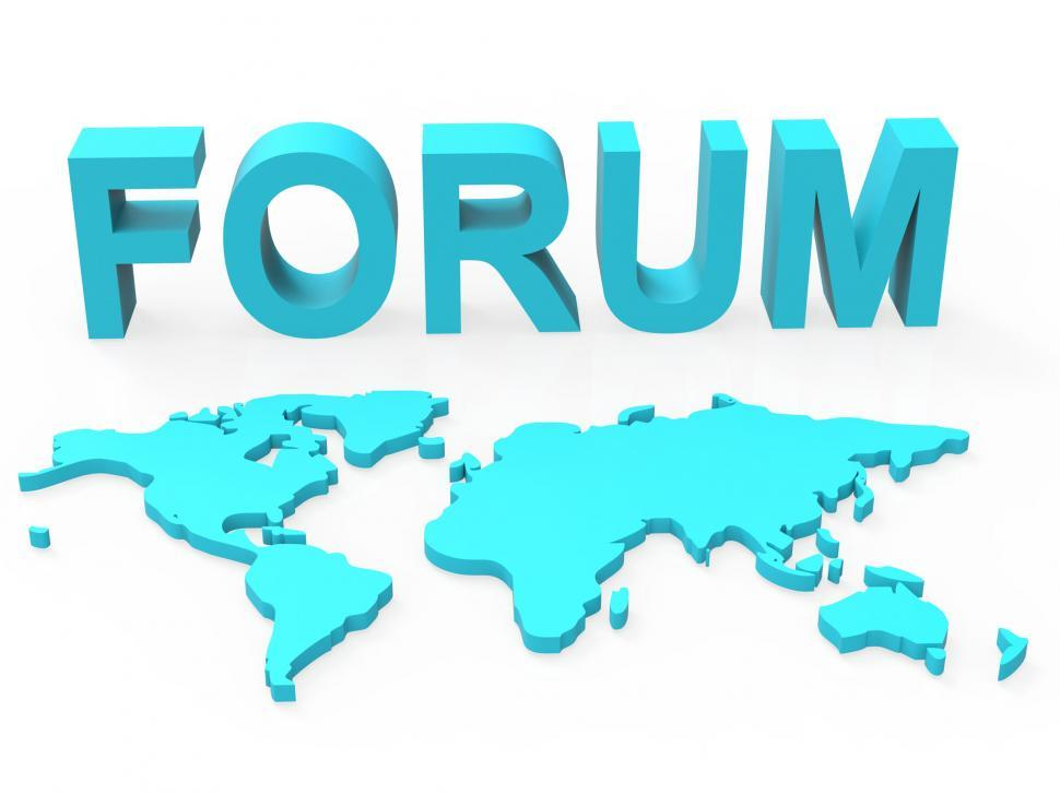 Download Free Stock HD Photo of Www Forum Means Social Media And Worldwide Online