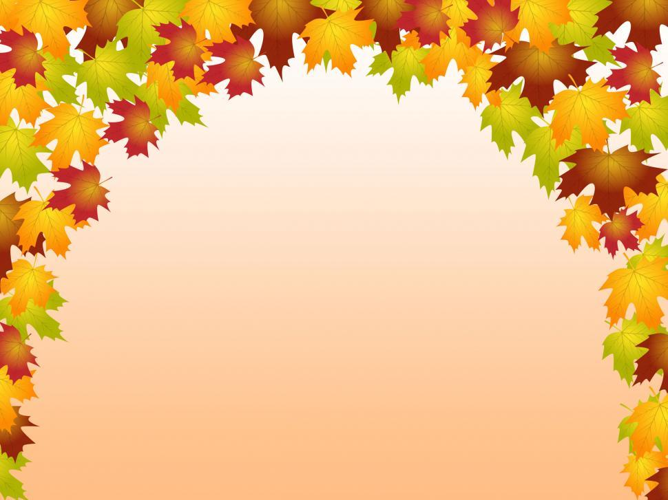 Download Free Stock HD Photo of Autumn Leaves Shows Blank Space And Botanic Online