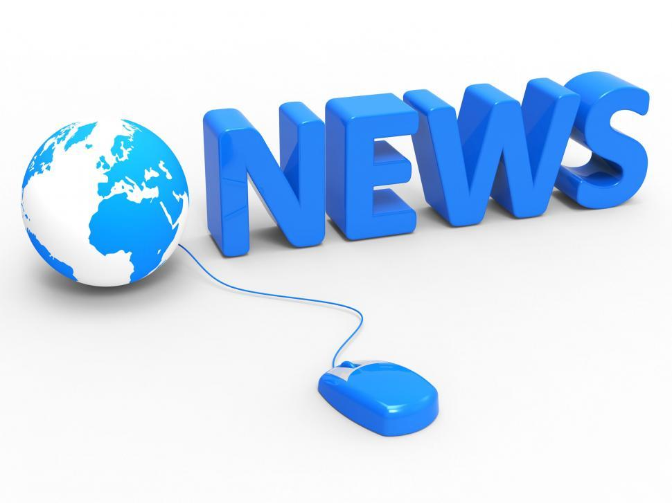 Download Free Stock HD Photo of News Internet Represents World Wide Web And Article Online