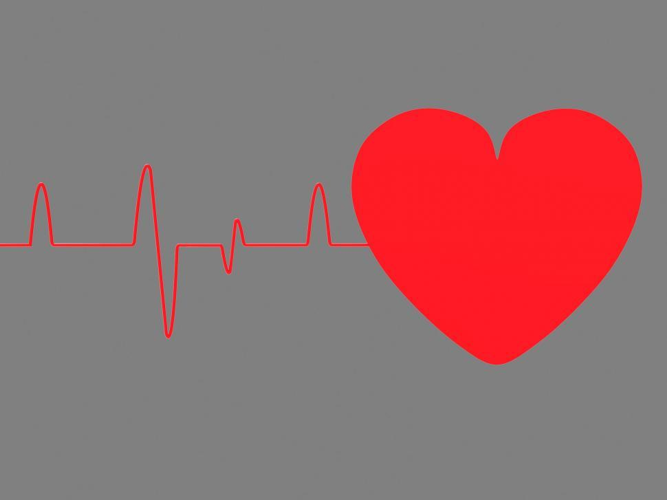 Download Free Stock HD Photo of Heart Pulse Means Empty Space And Blank Online