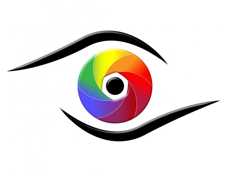 Download Free Stock HD Photo of Spectrum Eye Shows Colorful Background And Chromatic Online