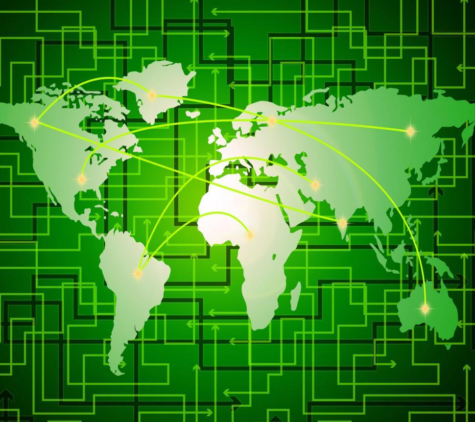 download free stock hd photo of world map indicates lan network and communication online