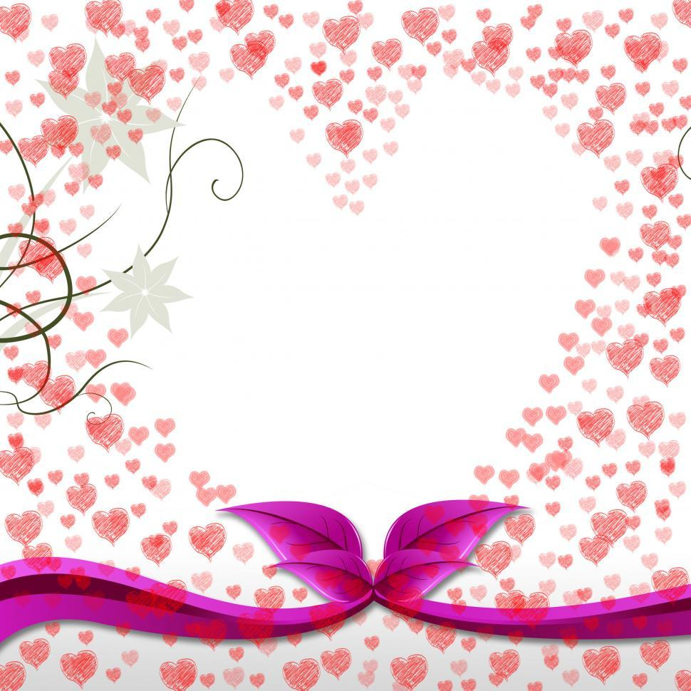 Download Free Stock HD Photo of Hearts Floral Means Valentines Day And Bouquet Online