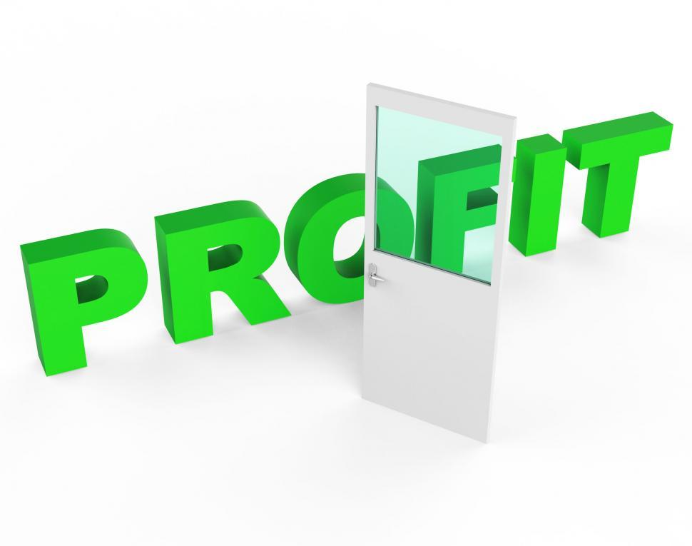 Download Free Stock HD Photo of Profit Door Represents Profits Income And Success Online