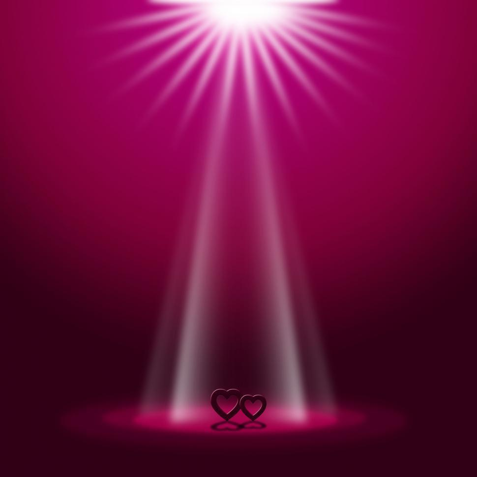 Download Free Stock HD Photo of Spotlight Red Represents Valentine Day And Entertainment Online