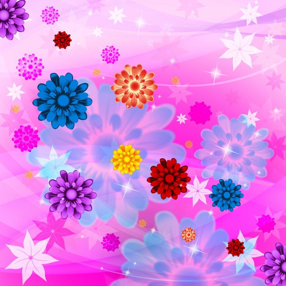Download Free Stock HD Photo of Color Flowers Shows Artistic Swirl And Colorful Online