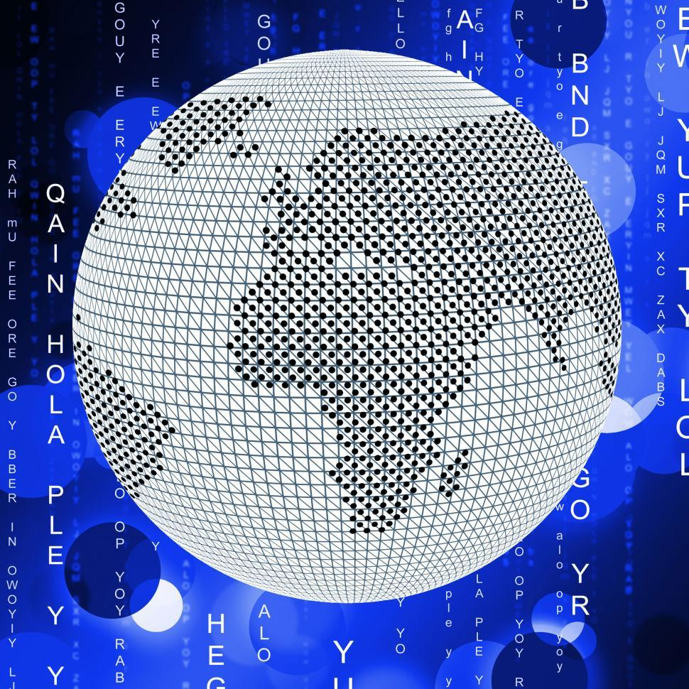 Download Free Stock HD Photo of Global Matrix Means Globalize Globalization And Network Online