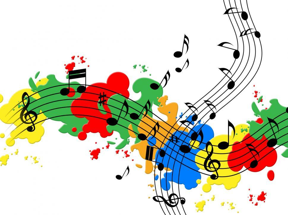 Download Free Stock HD Photo of Splat Paint Represents Musical Note And Audio Online