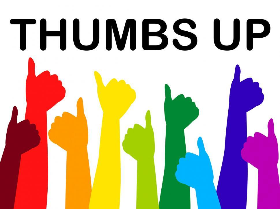 Download Free Stock HD Photo of Thumbs Up Means All Right And Agree Online