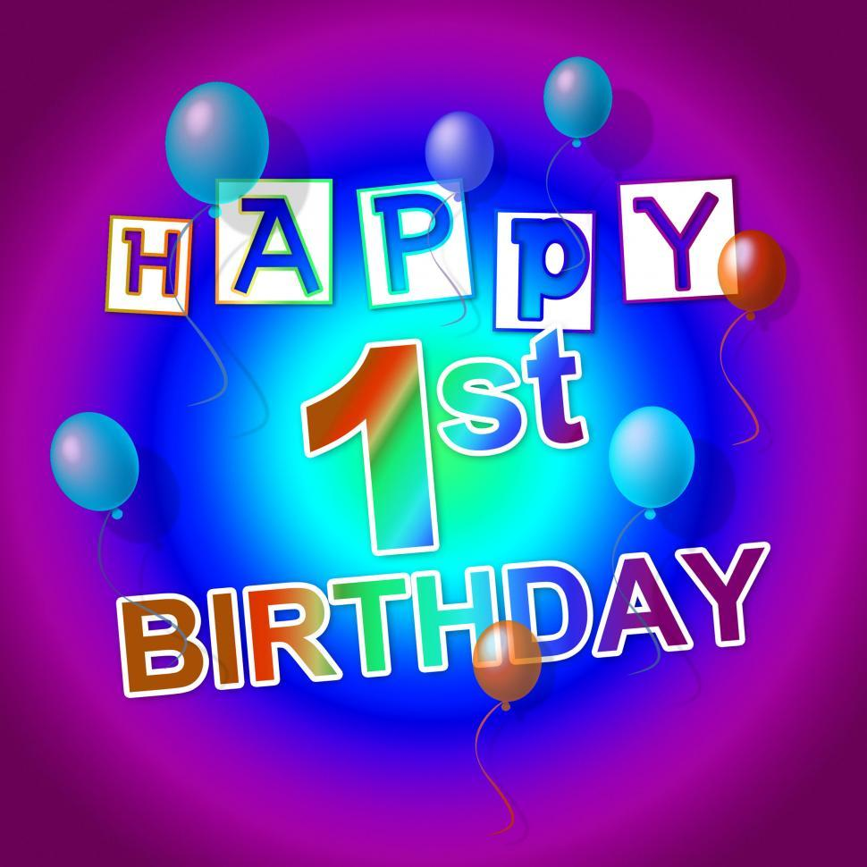 Download Free Stock HD Photo of Happy Birthday Means Greeting Happiness And Celebrating Online