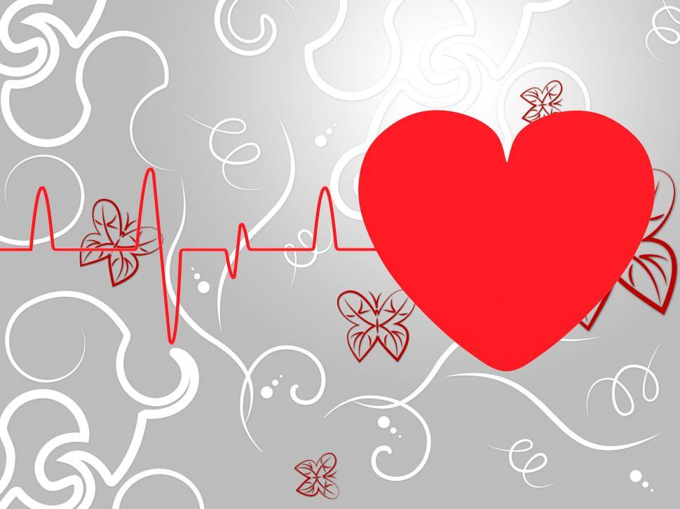 Download Free Stock HD Photo of Heart Pulse Means Empty Space And Cardiogram Online