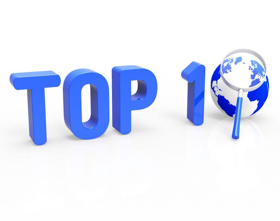 Download Free Stock HD Photo of Top 10 Means Search Best And Winning Online