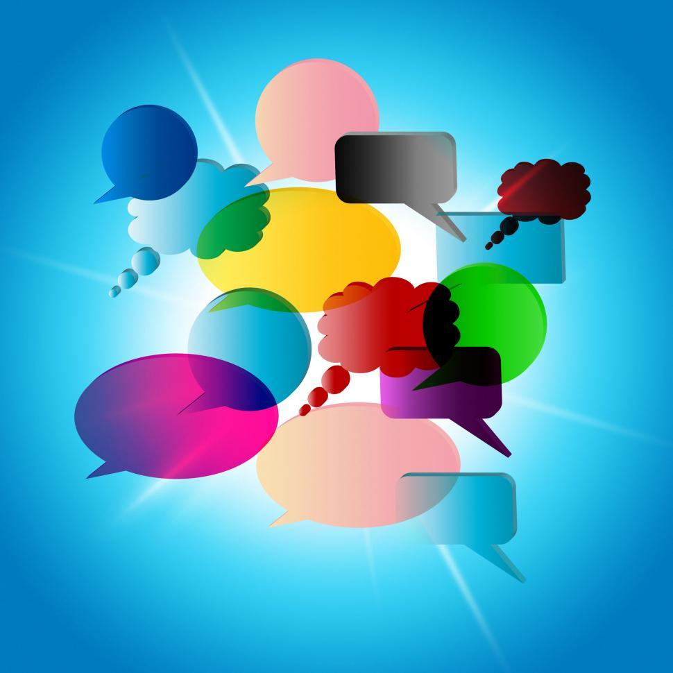 Download Free Stock HD Photo of Speech Bubble Means Talk Communicate And Talking Online