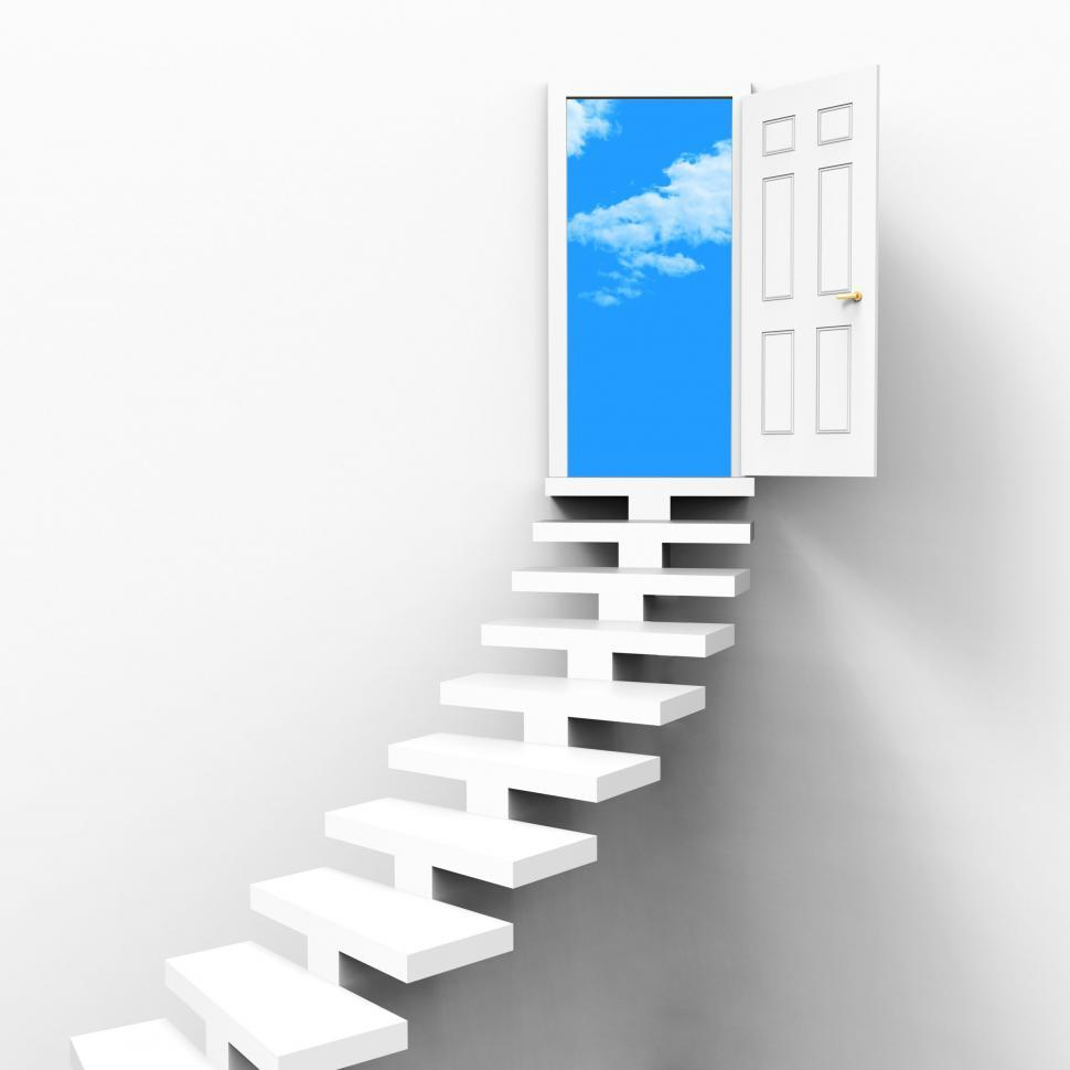Download Free Stock HD Photo of Stairs Concept Indicates Ladder Of Success And Ambition Online